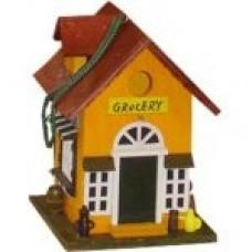 Vogelhuisje grocery oranje/bruin - uitverkocht