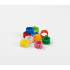 Plastic klikringen 08mm. - 25 stuks