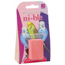 Esve Ni-ble Mineralenblok voor grasparkiet - roze